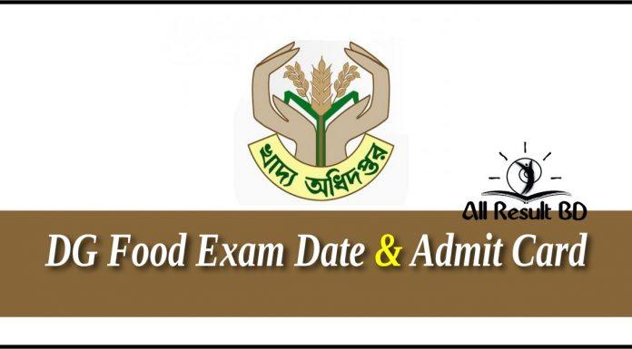 DG Food Exam Date