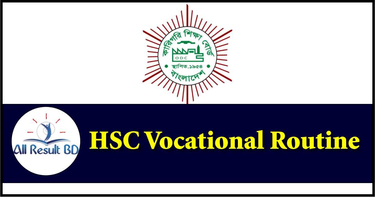 HSC Vocational Routine