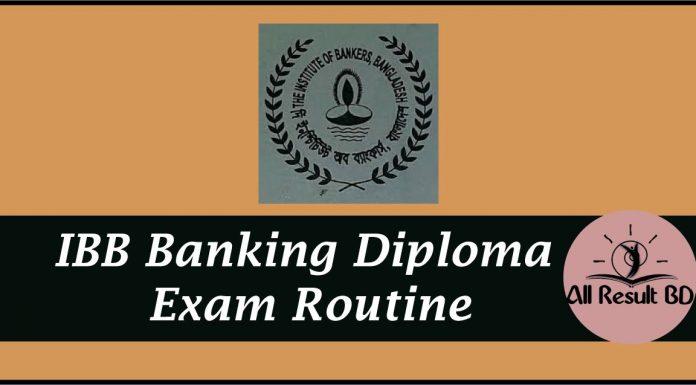 IBB Banking Diploma Exam Routine