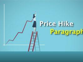 Price Hike Paragraph