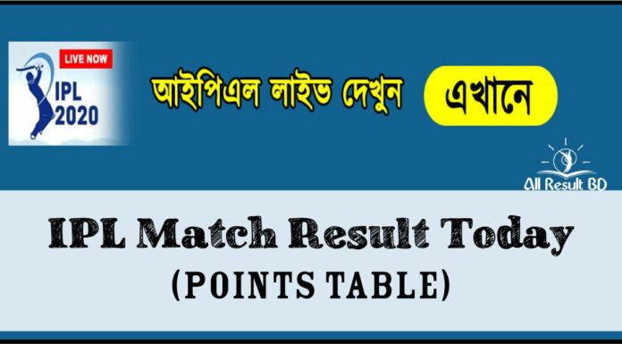 IPL Match Result