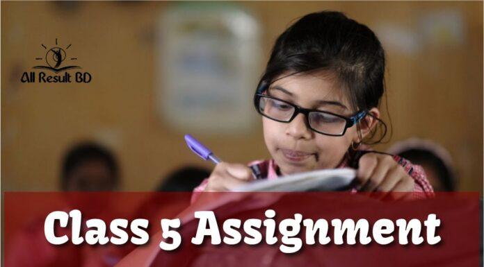 Class 5 Assignment