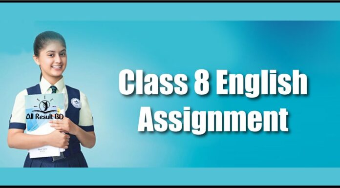 Class 8 Assignment English
