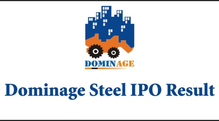 Dominage Steel IPO Result