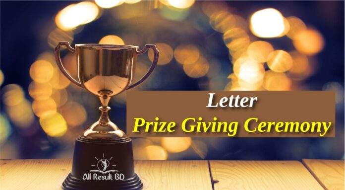 Prize Giving Ceremony Letter