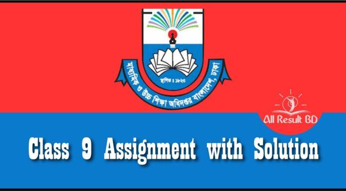 class 9 assignment