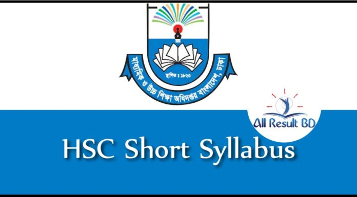 HSC Short Syllabus