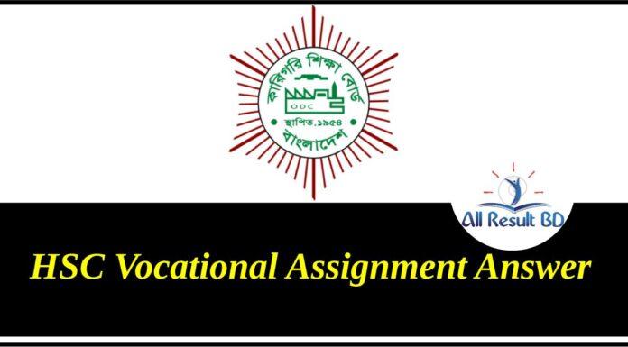 HSC Vocational Assignment