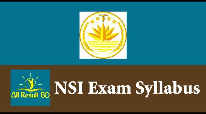 NSI Exam Syllabus