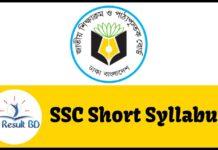 SSC Short Syllabus