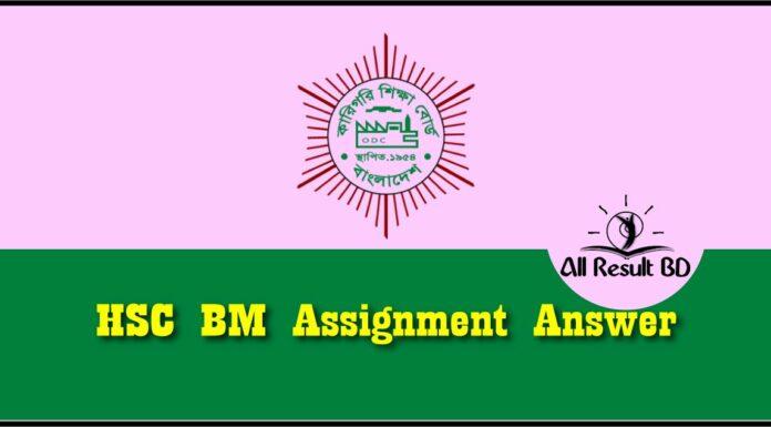 HSC BM Assignment Answer