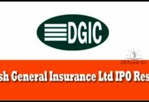 Desh General Insurance IPO result