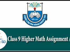 class 9 Higher Math assignment