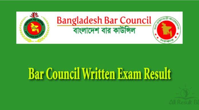 Bar Council Written Exam Result