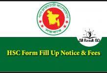 HSC Form Fill Up Notice