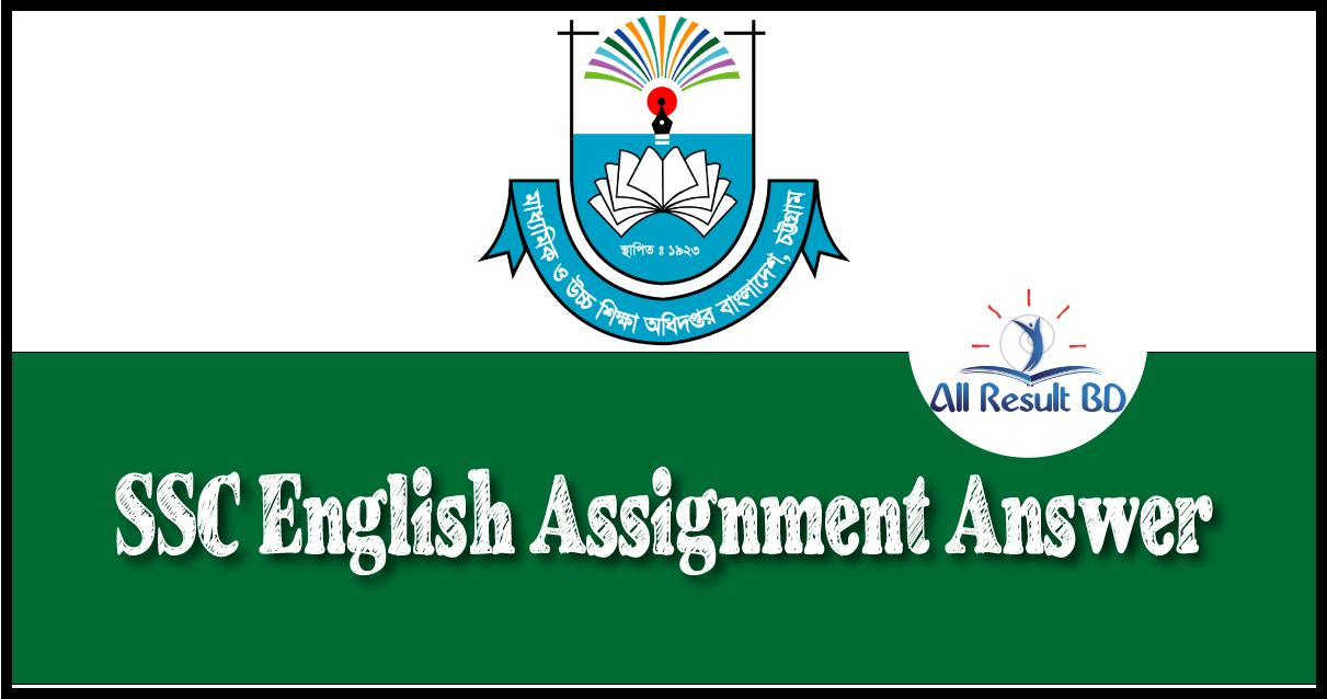 SSC English Assignment
