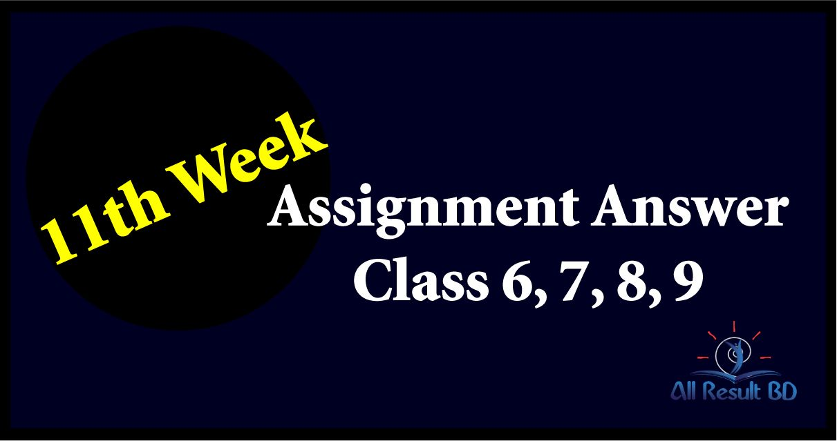 11th Week Assignment