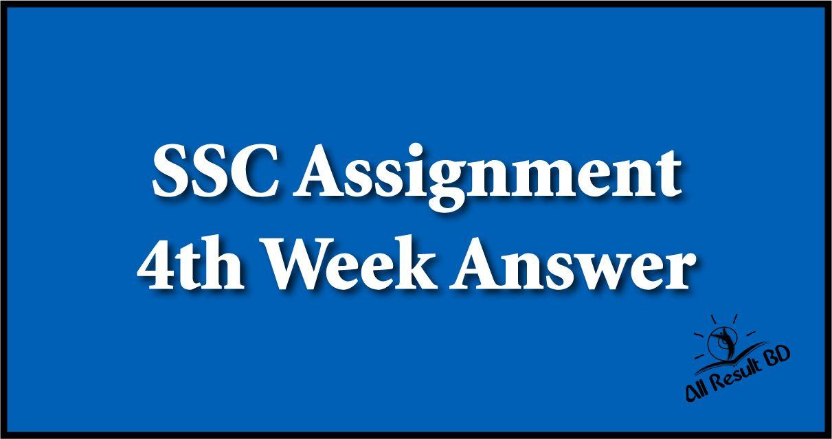 4th Week Class 10 Assignment