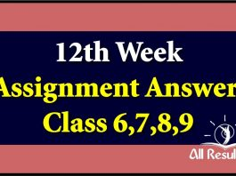 12th Week Assignment