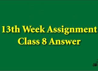 13th Week Assignment Class 8