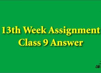 13th Week Assignment Class 9