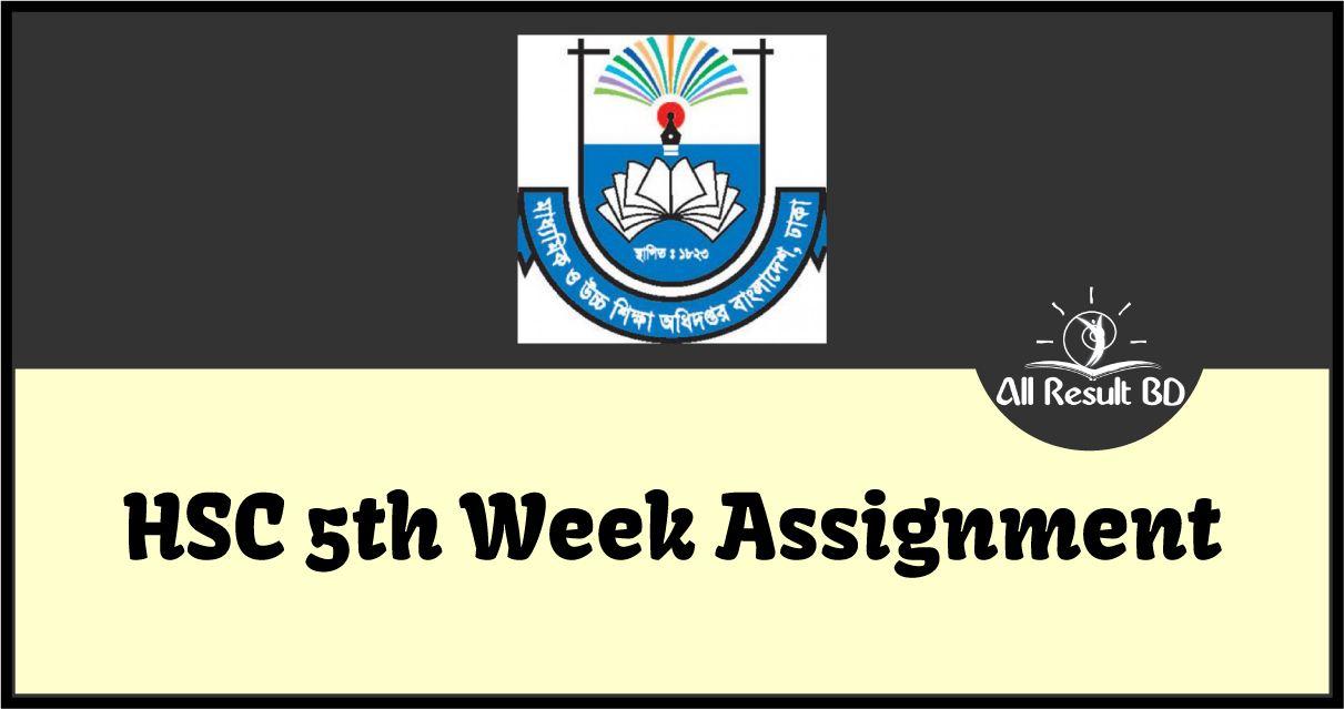 HSC 2021 Assignment 5th Week