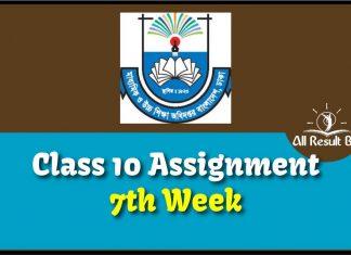 Class 10 Assignment 7th Week
