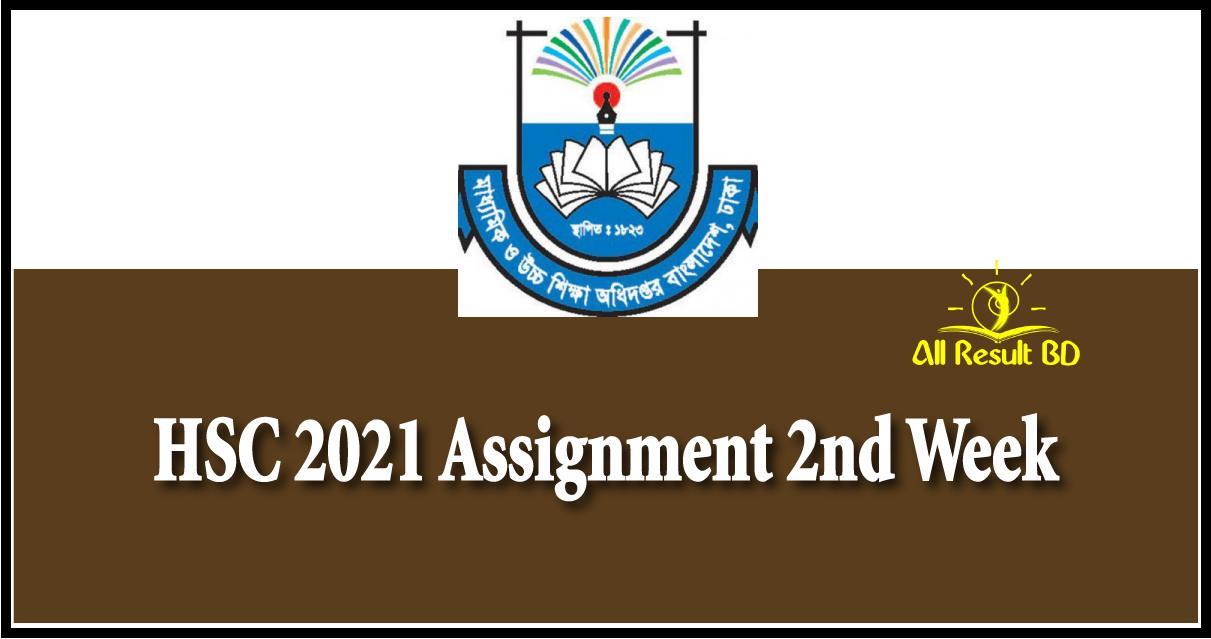 HSC 2021 Assignment 2nd Week