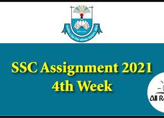 SSC Assignment 2021 4th Week