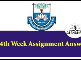 14th Week Assignment
