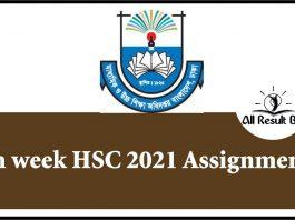 6th week HSC 2021 Assignment