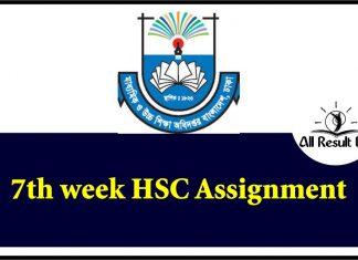 7th Week HSC Assignment
