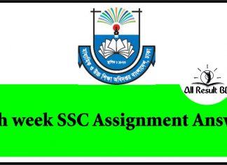 8th Week SSC Assignment