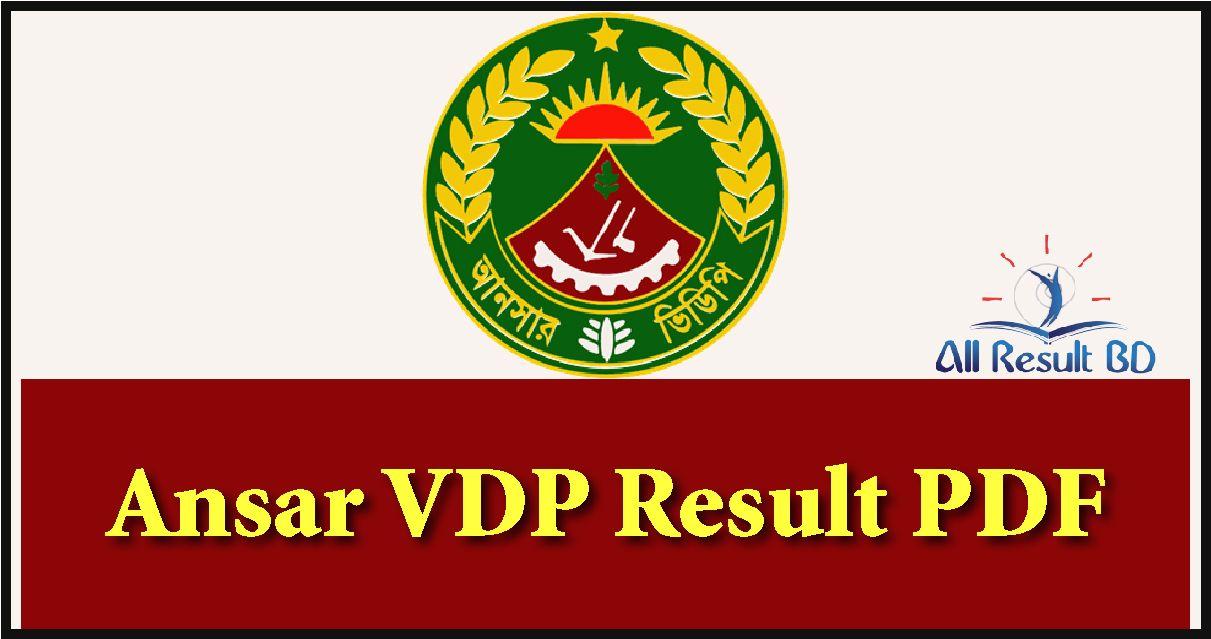 Ansar VDP Result