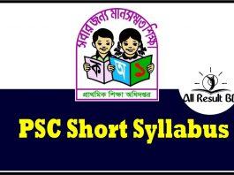 PSC Short Syllabus