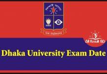 Dhaka University Exam Date