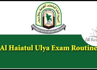 Al Haiatul Ulya Exam Routine