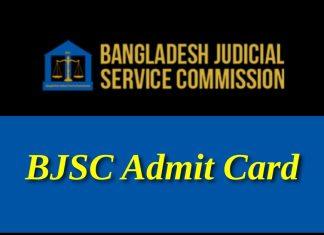 BJSC Admit Card PDF