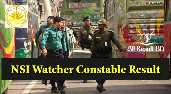 NSI Watcher Constable Result