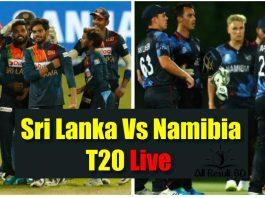 Sri Lanka Vs Namibia T20 Live